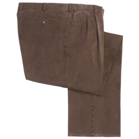 Hiltl Fresno Stretch Cotton Pants - Double Reverse Pleats (For Men)
