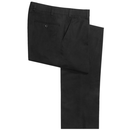Hiltl Napa Giza No-Iron Pants - Flat Front, Comfort Waistband (For Men)