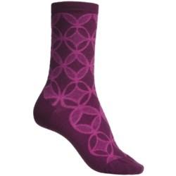 SmartWool Concentric Unwound Socks - Merino Wool, Crew (For Women)