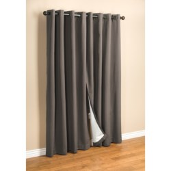 "Commonwealth Home Fashions Hotel Chic Blackout Curtains - 100x84"", Grommet-Top"