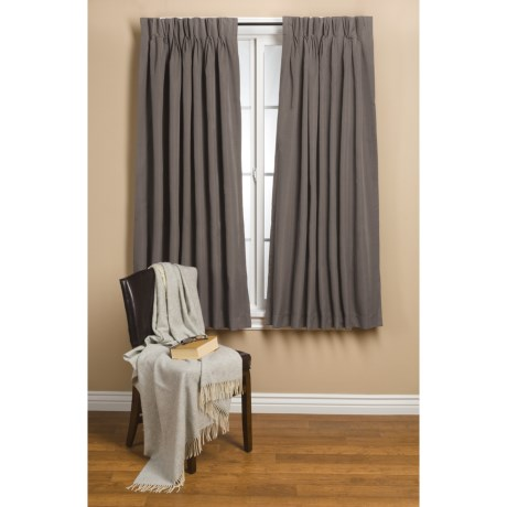 """Commonwealth Home Fashions Hotel Chic Blackout Curtains - 72x63"""", Pinch Pleat"""