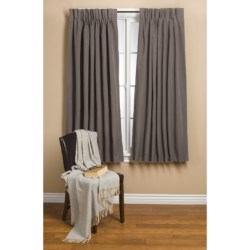 "Commonwealth Home Fashions Hotel Chic Blackout Curtains - 48x63"", Pinch Pleat"