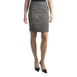 Amanda + Chelsea Leopard Straight Skirt (For Women)