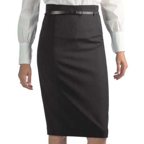 Atelier Luxe Straight Skirt - Belted (For Women)