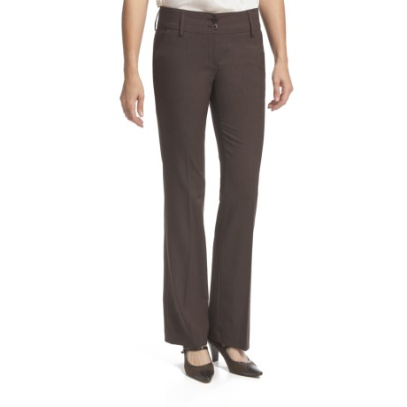 Amanda + Chelsea Salt & Pepper Contemporary Pants - Low Rise (For Women)