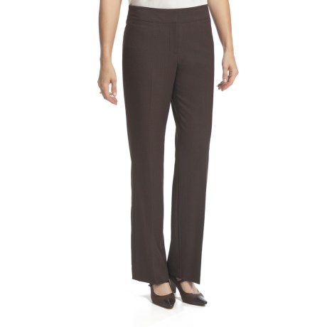Atelier Luxe Salt & Pepper Modern Straight Leg Pants (For Women)
