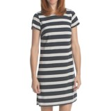 Laundry by Design Lurex Stripe T-Shirt Dress - Short Sleeve (For Women)