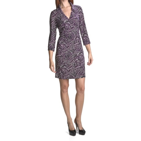 Laundry by Design Etched Feathers Dress - Matte Jersey, 3/4 Sleeve (For Women)