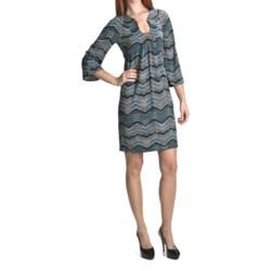 Laundry by Design Chevron Matte Jersey Dress - 3/4 Sleeve (For Women)