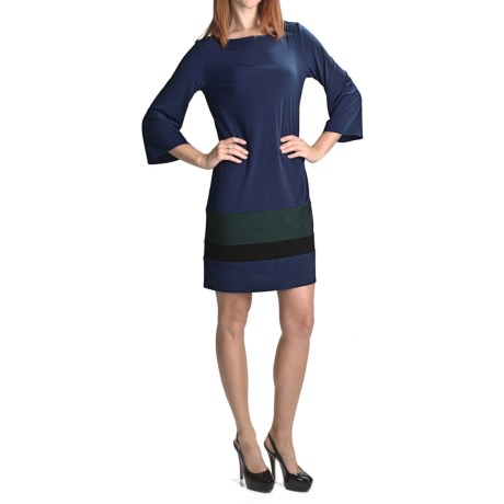 Laundry by Design Matte Jersey Color-Block Dress - 3/4 Sleeve (For Women)
