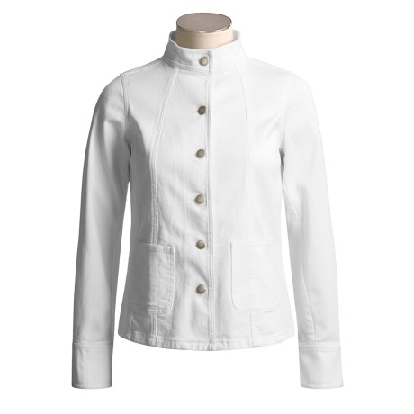 David Brooks Denim Mandarin Jacket - Stretch (For Women)
