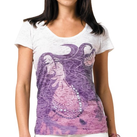 prAna Leah Burnout Printed T-Shirt (For Women)