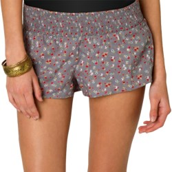 O'Neill Be Free Shorts - Smocked Waist (For Women)