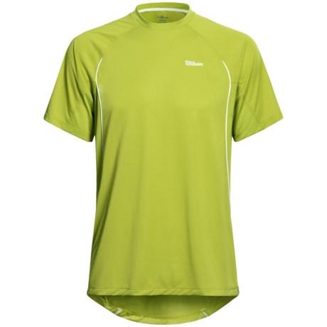 Wilson Straight Sets Crew Shirt - UPF 30+, Short Sleeve (For Men)