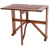 "Acacia Wood Half-Square Gateleg Table - 36"""