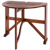"Acacia Wood Half-Round Gateleg Table - 36"""