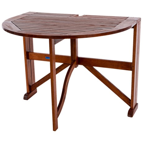 "Acacia Wood Half-Round Gateleg Table - 42"""