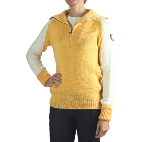Rossignol Heritage Pullover Sweater - Zip Neck (For Women)