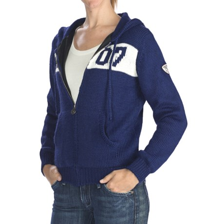 Rossignol Heritage Hooded Sweater - Windproof, Short Sleeve (For Women)