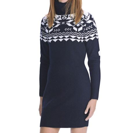 Rossignol Jacquard Dress - Merino Wool, Long Sleeve (For Women)