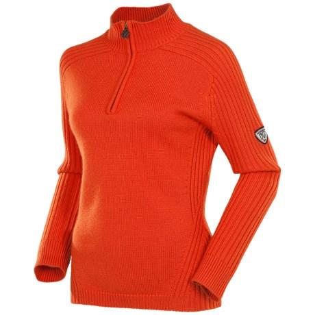 Rossignol Mirage Pullover Sweater - Merino Wool, Zip Neck (For Women)