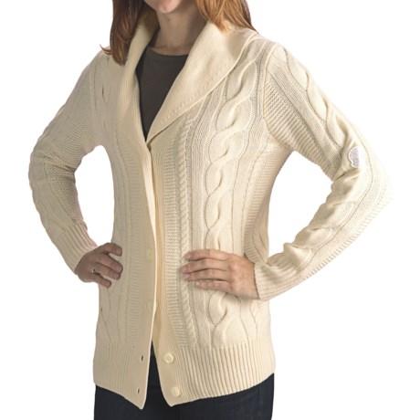 Rossignol Elegant Cardigan Sweater - Wool-Cashmere, Shawl Collar (For Women)