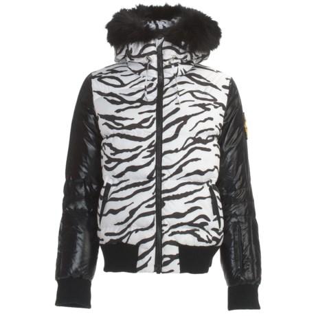 Rossignol Mareva Print Down Jacket - Fur Trim (For Women)