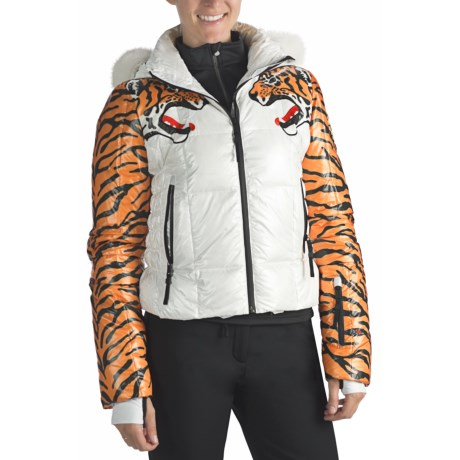 Rossignol Clemence Down Print Jacket with Fur Trim - 650 Fill Power (For Women)