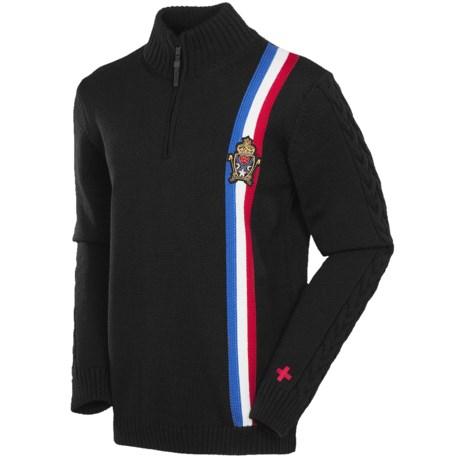 Rossignol John Merino Wool Sweater - Zip Neck (For Men)