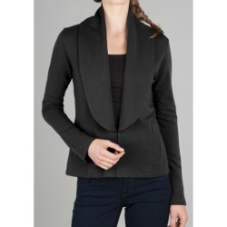 Lilla P Shawl Collar Jacket - Stretch French Terry Cotton (For Women)