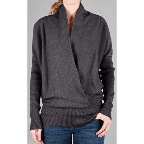 Lilla P Luxe Blouson Sweater - Cross Front (For Women)
