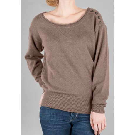 Lilla P Luxe Easy Bateau Sweater (For Women)