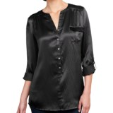 Lilla P Hammered Silk Pocket Tunic - Long Sleeve (For Women)