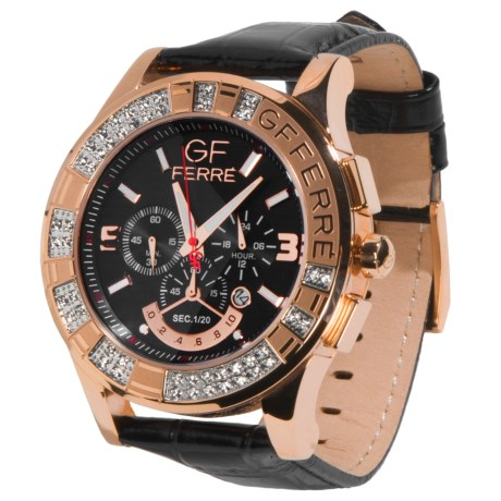 GF Ferre Rose Gold Tone Chronograph Watch - Date Window