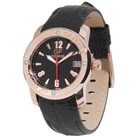 GF Ferre Gold Tone Watch - Date Window (For Women)