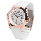 GF Ferre Watch - Rubber Strap, Three O'Clock Date Window (For Women)