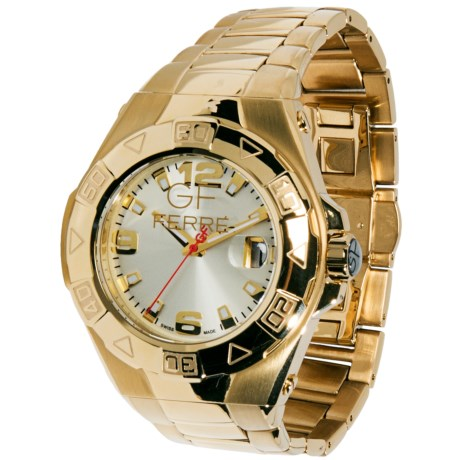GF Ferre Gold PVD-Coated Watch - Stainless Steel Bracelet