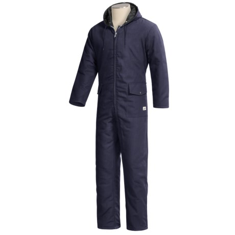 Work King Quilted Duck Coveralls with Hood (For Men)