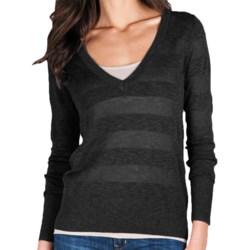 Lilla P Tonal Stripe Sweater - Lightweight, Long Sleeve (For Women)
