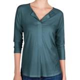 Lilla P Henley Shirt - Pima Cotton-Modal, 3/4 Sleeve (For Women)
