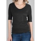Lilla P Shirred Band Shirt - Pima Cotton Jersey, Elbow Sleeve (For Women)