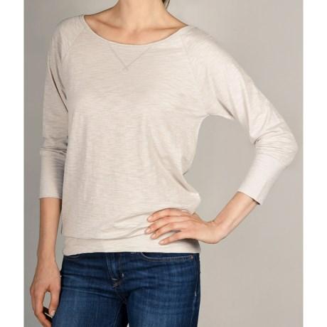 Lilla P Flame Bateau Shirt - 3/4 Sleeve (For Women)