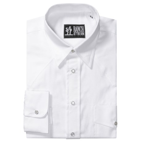Western Oxford Snap Dress Shirt - Pinpoint Collar, Long Sleeve (For Men)