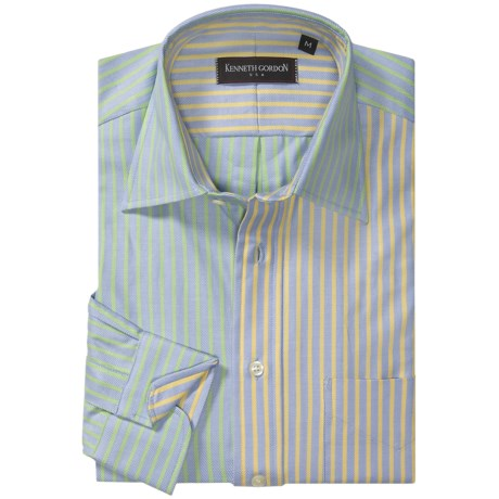 Kenneth Gordon Stripe Sport Shirt - Spread Collar, One Button Cuff, Long Sleeve (For Men)
