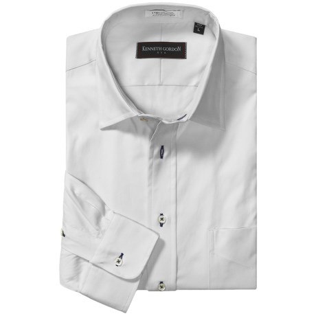 Kenneth Gordon Pinpoint Sport Shirt - Contrast Buttonholes, Long Sleeve (For Men)