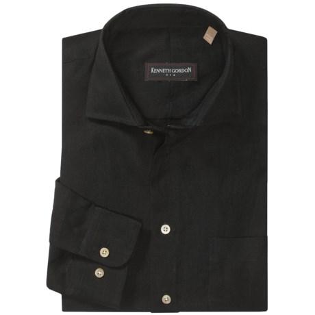 Kenneth Gordon Sport Shirt - Spread Collar, Long Sleeve (For Men)