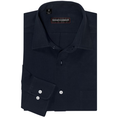 Kenneth Gordon Sport Shirt - Spread Collar, Long Sleeve (For Men)