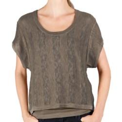 Lilla P Tonal Stripe Easy Crop Sweater (For Women)