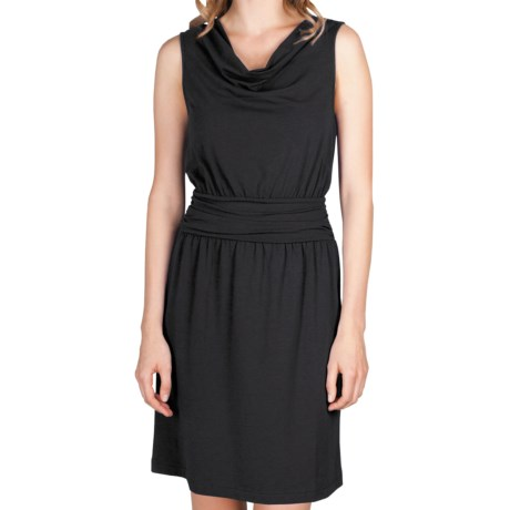 Lilla P Cowl Neck Dress - Stretch Pima Cotton-Modal, Sleeveless (For Women)