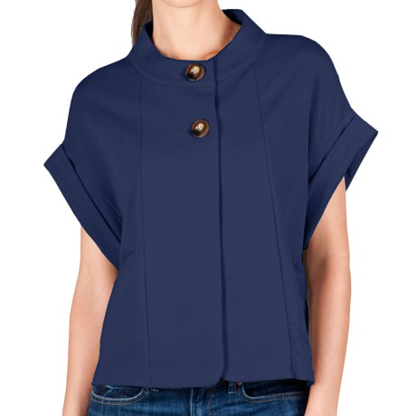 Lilla P Rolled Sleeve Jacket - French Terry (For Women)